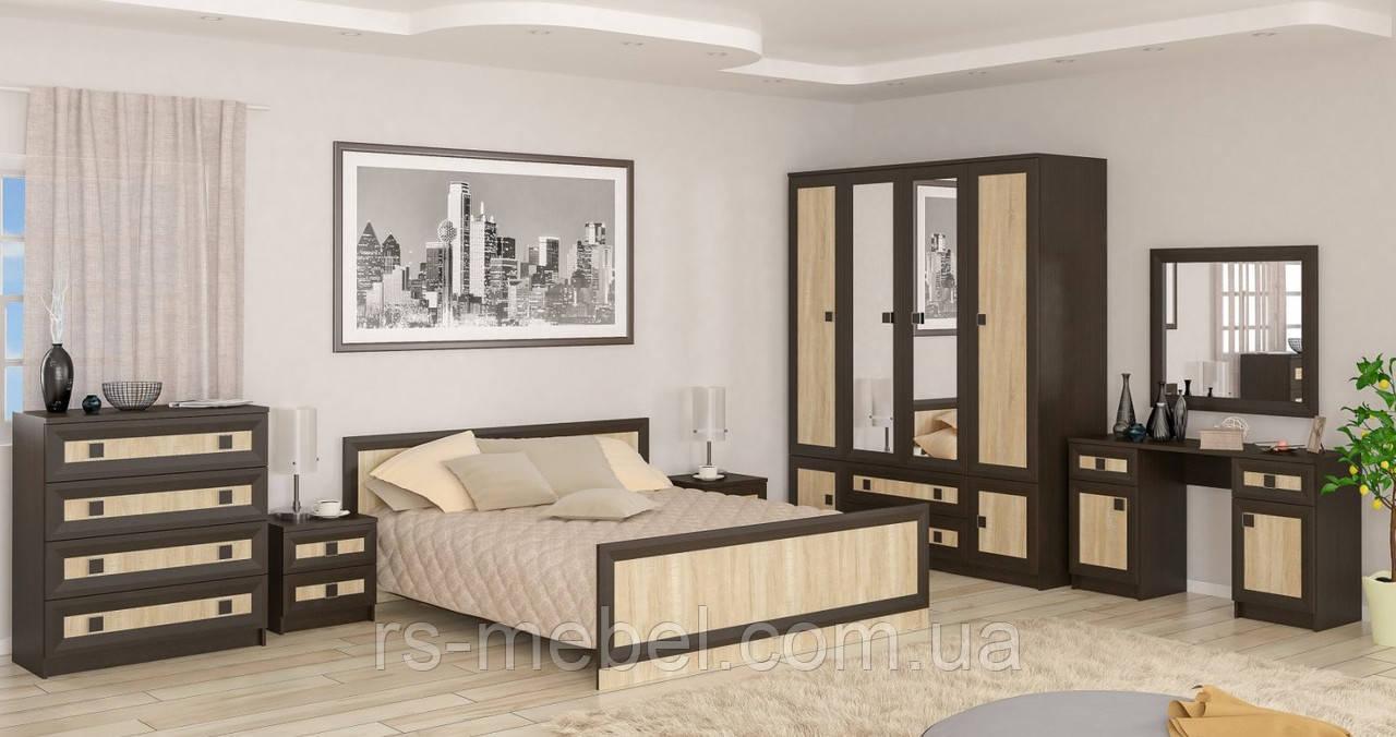 """Модульная спальня """"Даллас"""", венге/дуб сонома (Мебель-Сервис)"""