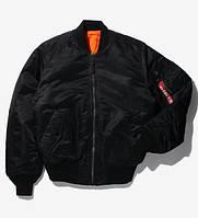 Оригинальный бомбер Alpha Industries MA-1 Flight Jacket, США (черный)