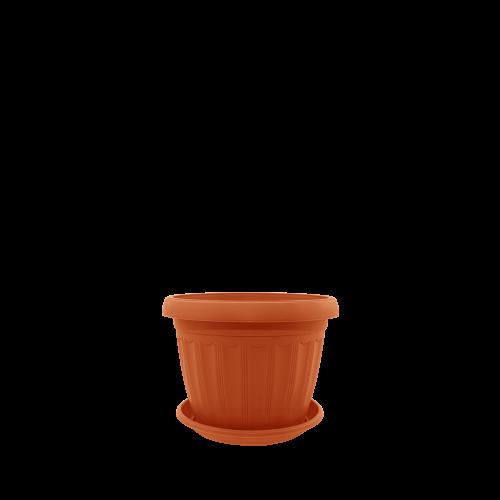 Горшок цветочный Терра 30х23 см терракота 9,5 л, Украина