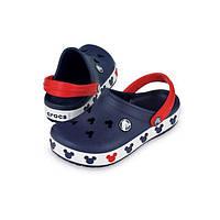 Кроксы летние Crocs Crocband Mickey ІI Kids (38) 26-27 разм. С 10/11