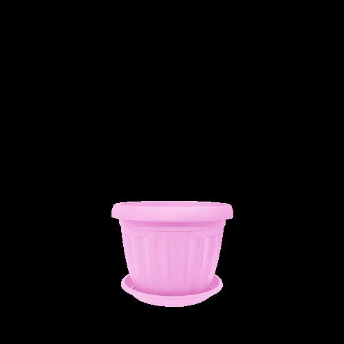 Горшок цветочный Терра 20х15 см розовый 2,8 л , Украина