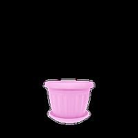 Горшок цветочный Терра 12х9 см розовый 0,55 л , Украина