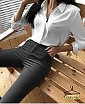 Женская белая рубашка с длинным рукавом, фото 5