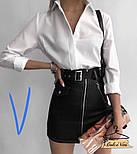Женская белая рубашка с длинным рукавом, фото 4