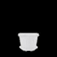 Горшок цветочный Терра 20х15 см белый флок 2,8 л , Украина