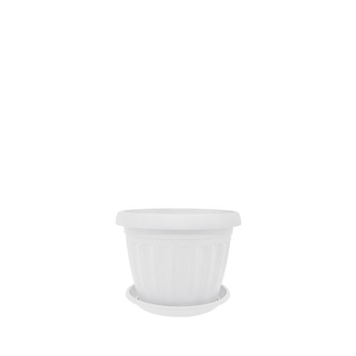 Горшок цветочный Терра 20х15 см белый 2,8 л , Украина