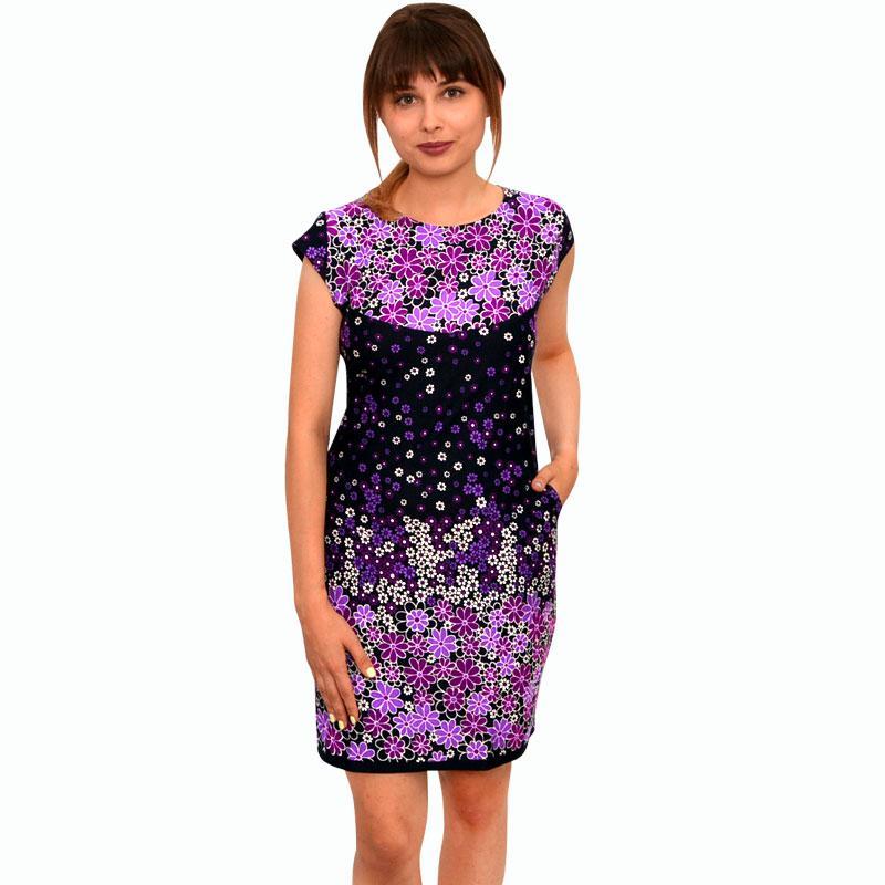 Платье купонное в цветах