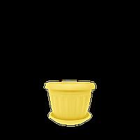 Горшок цветочный Терра 10х8 см желтый 0,35 л , Украина