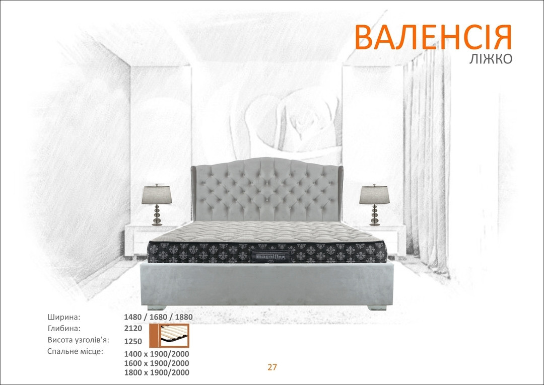 Кровать Валенсия 140х200 Таймлесс