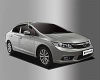 Ветровики, дефлекторы окон Honda Civic 2012+ (Autoclover) A155, фото 1