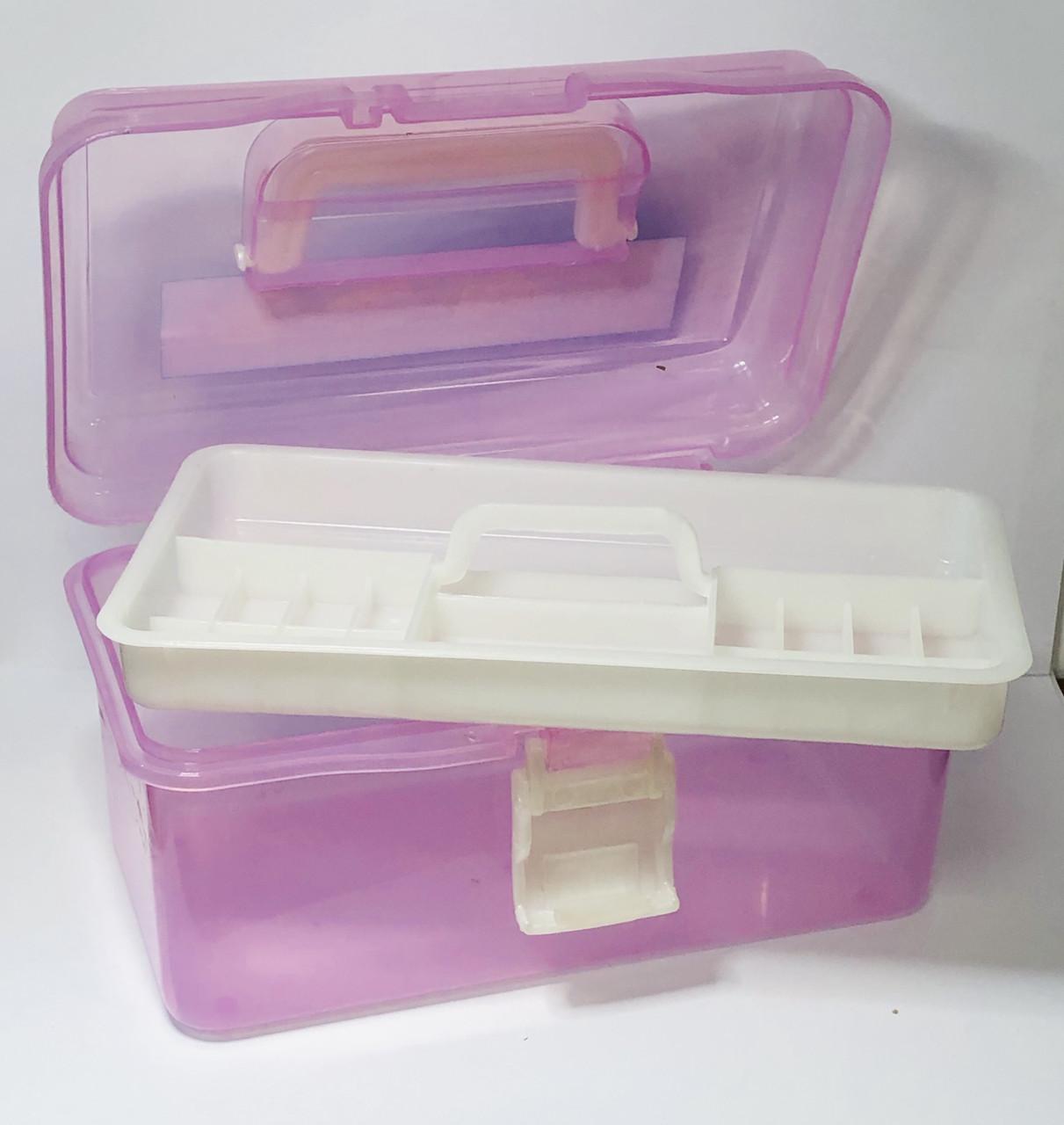 Кейс для маникюрных инструментов, пластиковый, средний