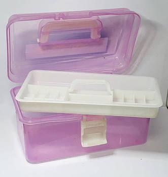 Кейс для маникюрных инструментов, пластиковый, большой,