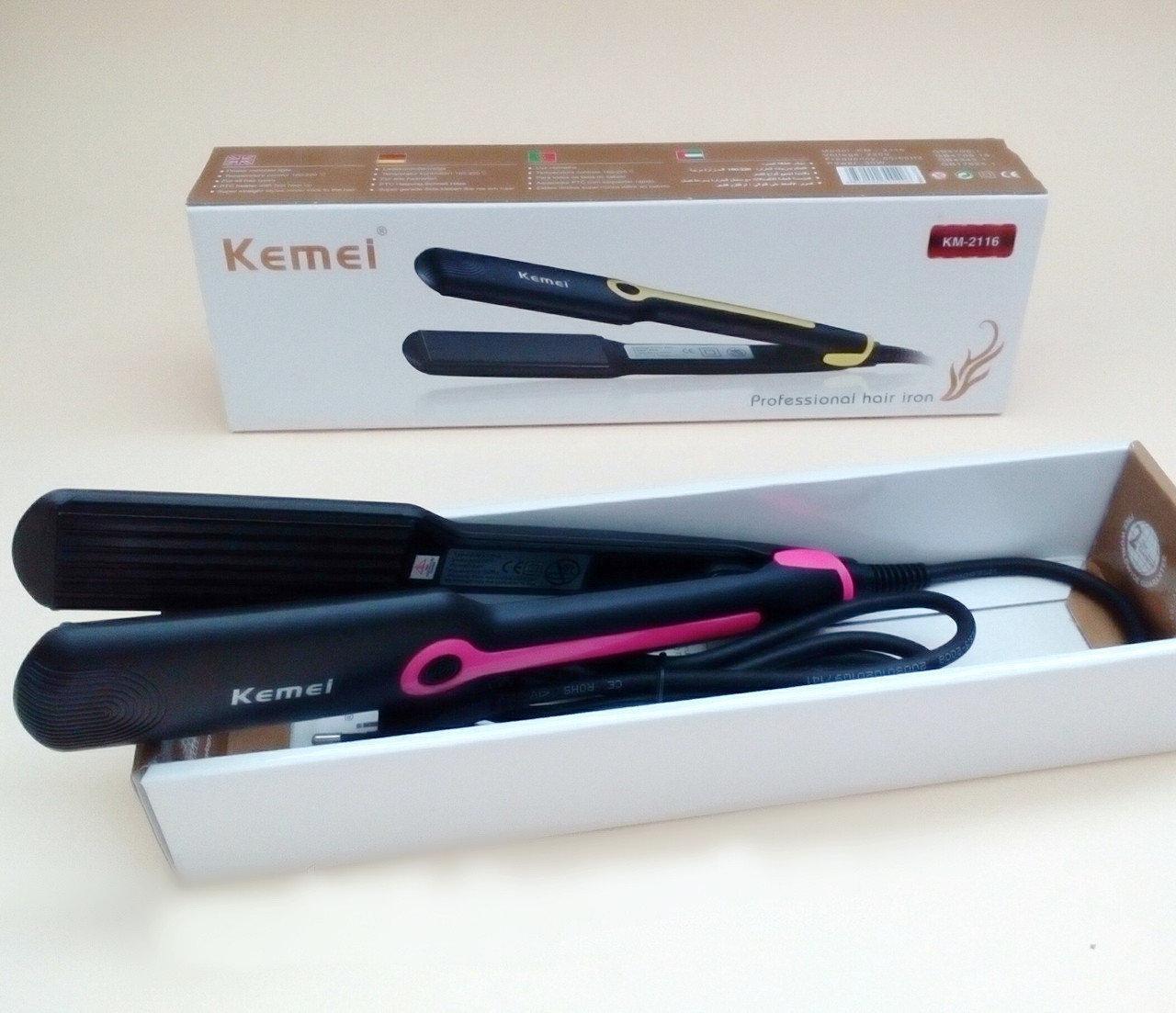 Утюжок для волос  Kemei KM-2116