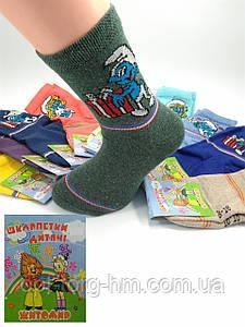 Дитячі шкарпетки 14-16 (22-25 взуття) Смурфики МІКС