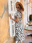 Женское стильное платье с поясом (в расцветках), фото 3