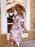 Женское стильное платье с поясом (в расцветках), фото 4