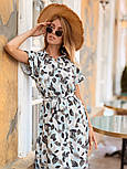 Женское стильное платье с поясом (в расцветках), фото 2