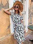 Женское стильное платье с поясом (в расцветках), фото 9