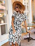 Женское стильное платье с поясом (в расцветках), фото 6