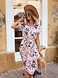 Женское стильное платье с поясом (в расцветках), фото 5