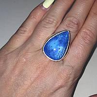Дендро-опал кольцо капля дендритовый опал размер 18,5 кольцо с дендро-палом дендро-агат в серебре., фото 1