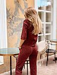 Женский стильный костюм из ангоры с белым воротником (в расцветках), фото 2