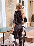 Женский стильный костюм из ангоры с белым воротником (в расцветках), фото 4