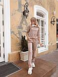 Женский стильный костюм из ангоры с белым воротником (в расцветках), фото 6