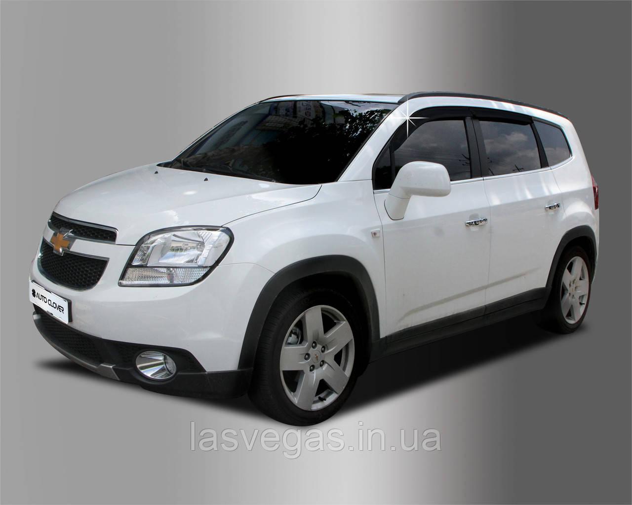 Дефлекторы окон (ветровики) Chevrolet Orlando 2011- (A134) Avtoclover