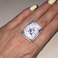 Кольцо дендритовый опал размер 18,5 кольцо с дендро-опалом в серебре Индия, фото 1