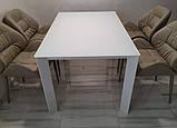 Стеклянный раздвижной кухонный стол BRISTOL B (130/200*85 см) белый Nicolas, фото 8