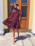 Женское стильное платье с рюшами в горошек, фото 2