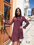Женское стильное платье с рюшами в горошек, фото 3