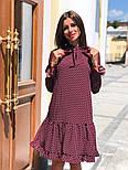 Женское стильное платье с рюшами в горошек, фото 5