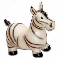 Прыгун резиновый надувной детский Ослик/Зебра