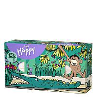 Платки бумажные универсальные двухслойные Bella Baby Happy (100 + 50 шт. Обезьяна)