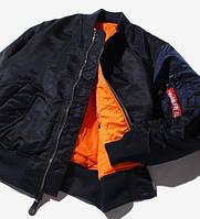 Оригинальная лётная куртка MA-1 Flight Jacket Alpha Industries, США (синяя)