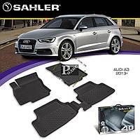 Резиновые коврики Audi A3 2013-н.в. 4D (Sahler) - Ковры в салон Ауди А3