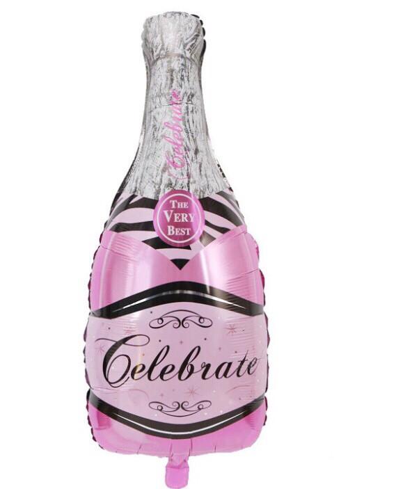 Фольгированный шар Розовое шампанское 102х50 см