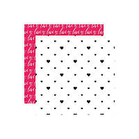 Папір двосторонній - Hearts - Love Is In The Air - Webster's Pages - 30x30