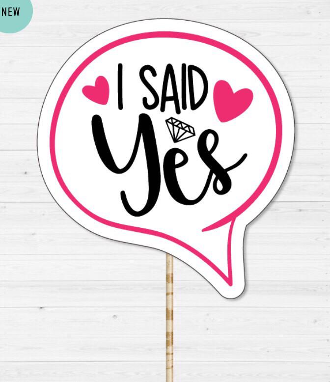 "Табличка для фотосесії ""I SAID YES"""