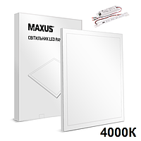 Maxus Panel 36W 3600Lm 4000К Ra80 аварийная светодиодная LED-панель 600х600 с акумулятором