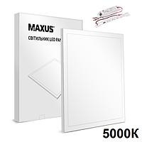 Maxus Panel 36W 3600Lm 5000К Ra80 аварийная светодиодная LED-панель 600х600 с акумулятором
