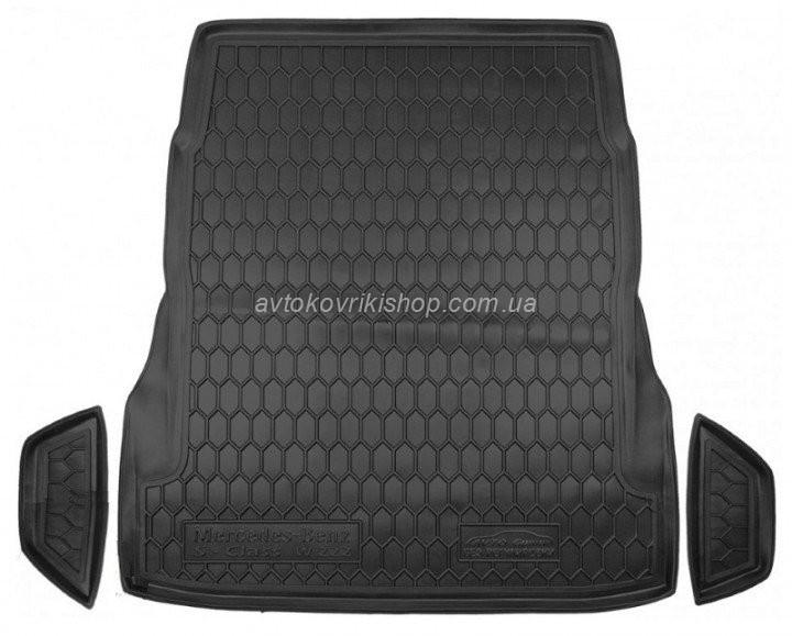 Резиновый коврик багажника Mercedes-Benz W222 S 2013- (без регулировки сидений) Avto-Gumm