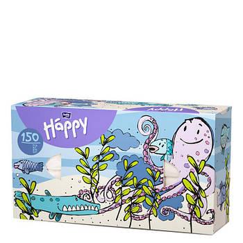 Платки бумажные универсальные двухслойные Bella Baby Happy (100 + 50 шт. Осьминог)