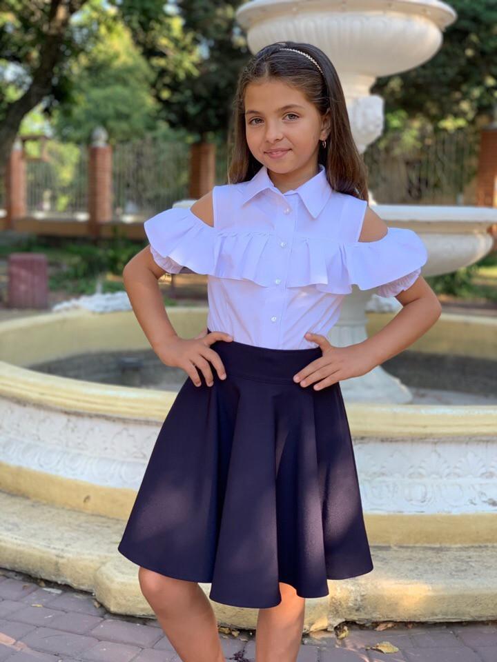 Школьная блузка рубашка 128-140 см