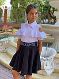 Школьная блузка рубашка 128-140 см, фото 2