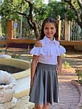 Школьная блузка рубашка 128-140 см, фото 3