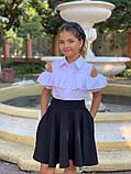 Школьная блузка рубашка 128-140 см, фото 4