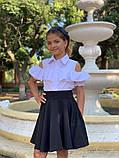 Школьная блузка рубашка 128-140 см, фото 5